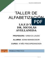 TALLER DE ALFABETIZACIÓN LECTO ESCRITURA.doc