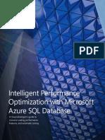 Intelligent Performance Optimization With Microsoft Azure SQL Database
