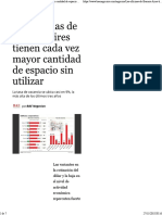 Las Oficinas de Buenos Aires Tienen Cada Vez Mayor Cantidad de Espacio Sin Utilizar