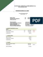 Informe Avance Proyecto Edificio VF Diciembre 2016