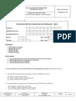 1° Evaluación de Ciencias 31 - 08 - 2015
