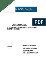 Assignment 1 (EUBS Process)