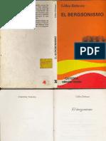DELEUZE, Gilles (1966) - El Bergsonismo (Cátedra, Madrid, 1987)