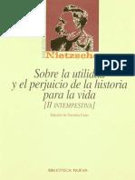 9_Nietzsche - Sobre La Utilidad y El Perjuicio de La Historia Para La Vida-Segunda Intempestiva