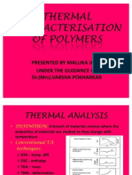 Thermal Character is at Ion of Polymers