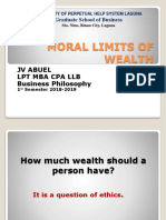 Moral Limits of Money Report