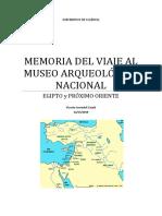 Memoria Del Viaje Al Museo Arqueológico Nacional