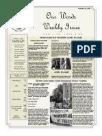 Newsletter Volume 9 Issue 38