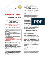 Moraga Rotary Newsletter November 20, 2018