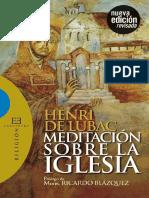 Henri De Lubac - Meditación Sobre La Iglesia.pdf