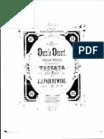Paderewski Dans Le Desert Op.15