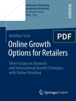 (Handel Und Internationales Marketing Retailing and International Marketing) Matthias Schu (Auth.)-Online Growth Options for Retailers_ Three Essays on Domestic and International Growth Strategies Wit