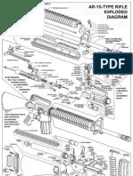 AR-15A2 Rifle Diagram