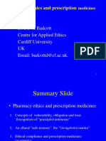 Symposium 2_Dr David Badcott_Pharmacy Ethics and Prescription Medicines