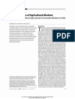 The Three Roles of Agricultural Markets- A Review of Ideas About Agricultural Commodity Markets in India Author(s)- MUHAMMAD ALI JAN and BARBARA HARRISS-WHITE