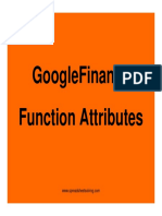Googlefinance Function Atttributes