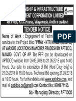 aptidco tender notice