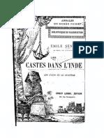 Senart, Castes Dans l'Inde 1896