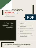 Process Safety Master Class I Sreejith Pillai 2018