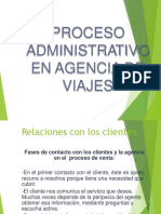 Proceso Administrativo de Una Agencia de Viajes