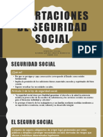 Aportaciones de Seguridad Social