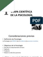 Etapa Cientifica Psicologia