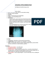Examination of the Diabetic Foot