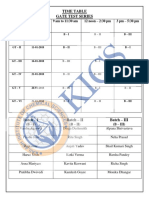 Gate Test Series Time Table 2018