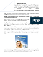 Material Teórico Sobre Anúncio e Características Do Gênero