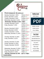 Christmas Carol Kids Cast Schedule