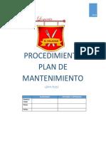 Lep-p-71212 Procedimiento Del Plan de Mantenimiento