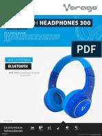 Ficha Audifonos Diadema Bluetooth Vorago HPB 300