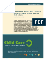Improving Reach of ECE to First Nations, Inuit, Metis Children