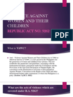 Violence Against Women and Their Children