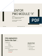 "MENTOR Project Management Office Module ""X"" Org & Comm"