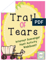 trail of tears internet scavenger hunt