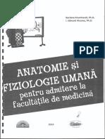Anatomie Si Fiziologie Umana Pentru Admitere La Facultatile de Medicina Barbara Krumhardt, I. Edward Alcamo
