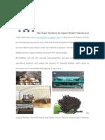 High-Output Pig Manure Bio Organic Fertilizer Production Line