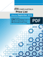 EBARA Australia Price List Sep 2016 R17