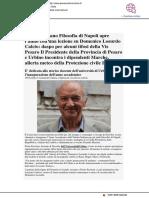 Istituto di Filosofia di Napoli apre l'anno con una lezione su Losurdo - Pesarourbinonotizie.com, 27 novembre 2018