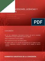 Concesiones, Licencias y Permisos