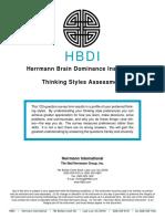 HBDI Assessment Form