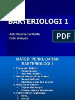 BAKTERIOLOGI 1