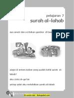 Pelajaran 7 Surah Al-Lahab