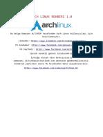 Arch Linux Rehberi 1.0