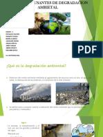 Factores de la degradacion ambiental