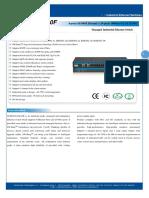 IT ES5024 IM 20F Datasheet - INDUSTRIAL ETHERNET MANAGED SWITCHES