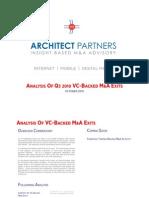 VC Backed MA Snapshot Q3 2010