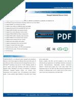 IT ES5024 IM 2F Datasheet - INDUSTRIAL ETHERNET MANAGED SWITCHES