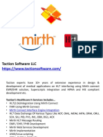 Mirth Integration Services | HL7 FHIR By Taction